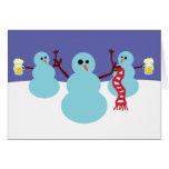¡Muñecos de nieve idos salvajes! Tarjeton