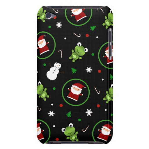 Muñecos de nieve negros de Papá Noel de las ranas Case-Mate iPod Touch Carcasa
