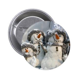 Muñecos de nieve pin redondo 5 cm