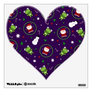 Muñecos de nieve púrpuras de Papá Noel de las