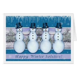 Muñecos de nieve - solsticio de invierno/Yule Tarjeta De Felicitación