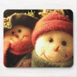 Muñecos de nieve tapete de ratón