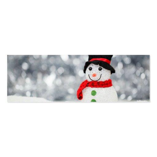 Muñecos de nieve tarjeta personal