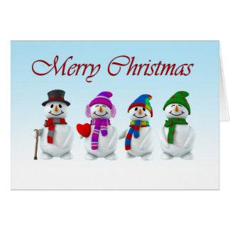 Muñecos de nieve tarjeta de felicitación