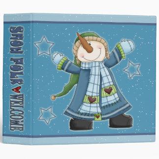 """Muñecos de nieve y estrellas divertidos carpeta 2"""""""