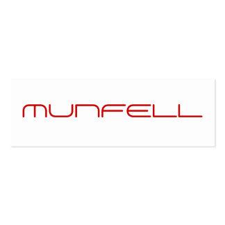 MUNFELL BUSINESS CARD