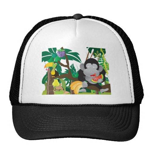 Mungle en la selva gorras