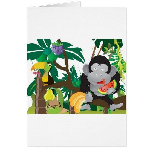 Mungle en la selva tarjeta de felicitación
