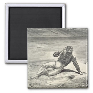 Mungo Park (1771-1806) encouraged by the sight of 2 Inch Square Magnet