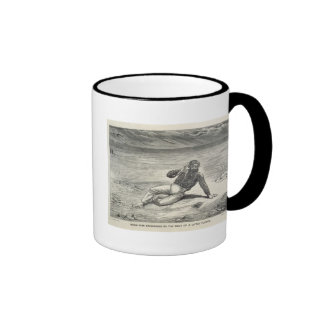 Mungo Park (1771-1806) encouraged by the sight of Mugs