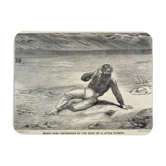 Mungo Park (1771-1806) encouraged by the sight of Rectangular Photo Magnet