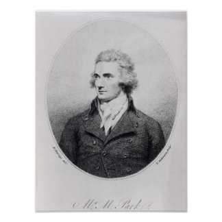 Mungo Park, engraved by T. Dickinson Poster