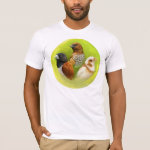Munia Finches Realistic Painting T-Shirt