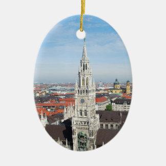 Munich, Alemania Adorno Navideño Ovalado De Cerámica