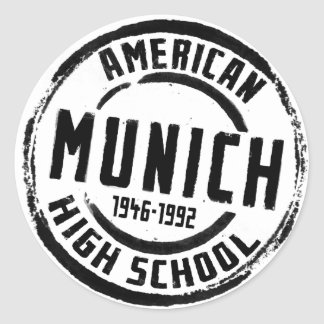 Munich American High School Stamp A004 Classic Round Sticker