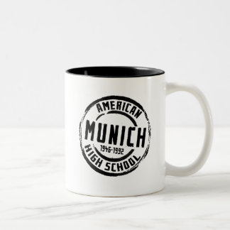 Munich American High School Stamp A004 Two-Tone Coffee Mug