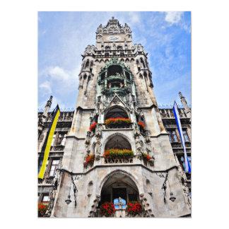 Munich architecture 6.5x8.75 paper invitation card