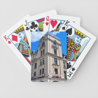 Munich architecture bicycle poker deck