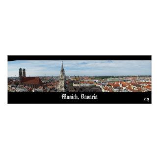 Munich, Bavaria Panorama Posters