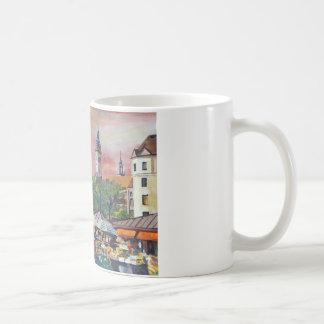 Munich Bavaria Viktualienmarkt With Signposts Classic White Coffee Mug