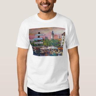 Munich Bavaria Viktualienmarkt With Signposts Shirt