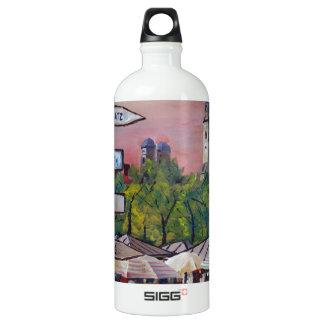 Munich Bavaria Viktualienmarkt With Signposts SIGG Traveler 1.0L Water Bottle