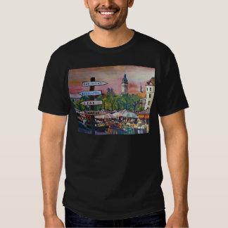 Munich Bavaria Viktualienmarkt With Signposts T Shirt