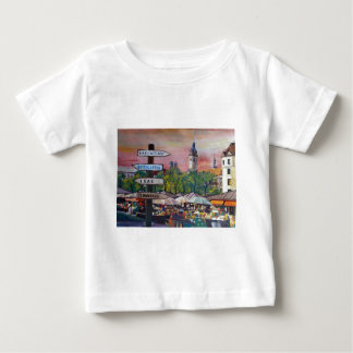 Munich Bavaria Viktualienmarkt With Signposts T-shirts