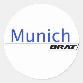 Munich Brat -A001 Classic Round Sticker