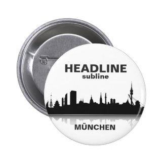 Munich button/Anstecker/pin Pinback Button