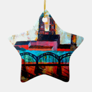 Munich Central Station With Hackerbridge Double-Sided Star Ceramic Christmas Ornament