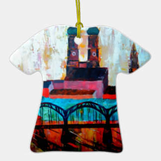Munich Central Station With Hackerbridge Double-Sided T-Shirt Ceramic Christmas Ornament