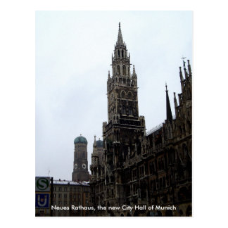 Munich City Hall Germany Travel Souvenir Postcard