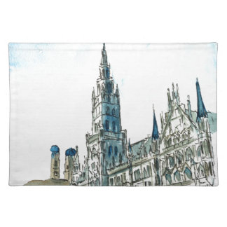 Munich city Hall Marienplatz Placemat