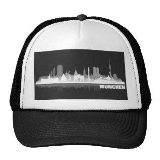 Munich city of skyline - gift ideas trucker hats