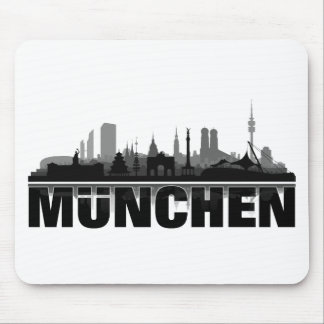 Munich city of skyline - gift ideas mouse pad