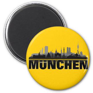 Munich city of skyline - magnet/refrigerator magne 2 inch round magnet