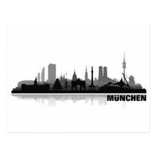 Munich city of skyline - postcards