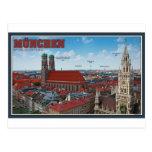Munich Cityscape Postcard