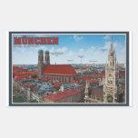 Munich Cityscape Rectangular Sticker