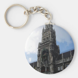 Munich Clock Tower Marienplatz Keychain