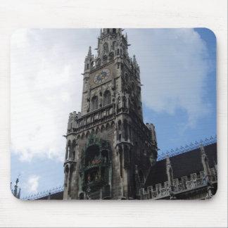 Munich Clock Tower Marienplatz Mouse Pad