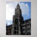 Munich Clock Tower Marienplatz, S Cyr Poster