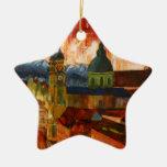 Munich con panorama de las montañas ornamentos de reyes magos