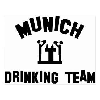 Munich Drinking Team Postcard