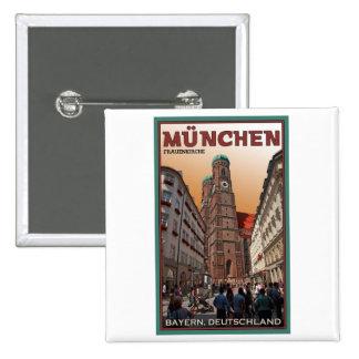 Munich - Frauenkirche 2 Inch Square Button