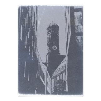 MUNICH FRAUENKIRCHE 5X7 PAPER INVITATION CARD