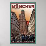 Munich - Frauenkirche Póster