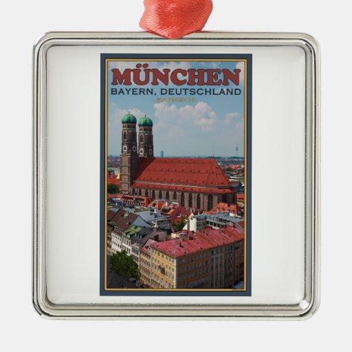 Munich Frauenkirche (retrato) Ornaments Para Arbol De Navidad