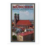 Munich Frauenkirche (retrato) Postal